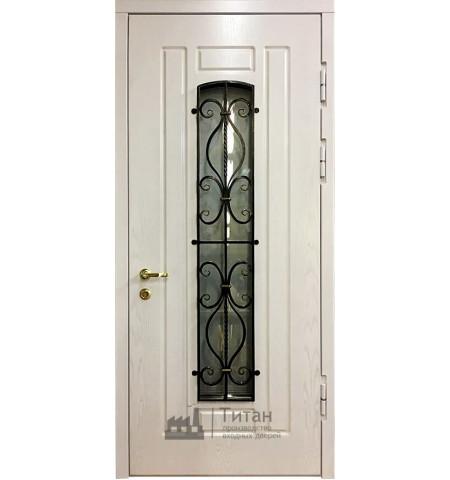 Дверь МДФ со стеклом МК-04( белая)